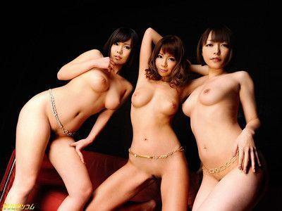 Three japanese babes craving hard cock