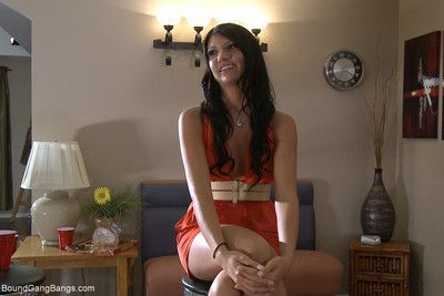 Cassandra nix stars in her first gangbang where she is handcuffed to a bed and u