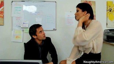 Secretary romi rain banged at work in her office