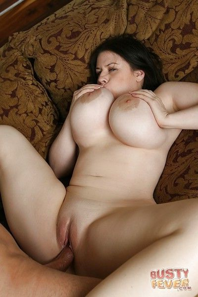 Fatty milf with big tits Daphne Rosen has her shaved pussy fucked hardcore