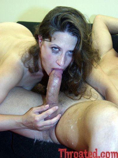 Lena ramon giving intense cock gagging deep throat