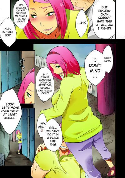 (C90) [Karakishi Youhei-dan Shinga (Sahara Wataru)] Kage Hinata ni Sakura Saku (Naruto) [English] [Colorized]