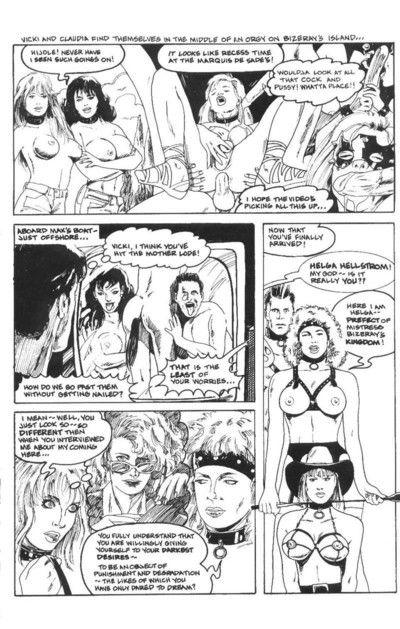 Bdsm lesbian cartoon orgy